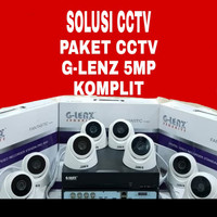 paket cctv G-lenz 4 Channel 2 kamera G-lenz 5 Mp (1TB harddisk)