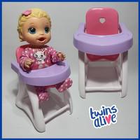 Tempat Makan Baby Chair Plastik Aksesoris Boneka Baby Alive MellChan
