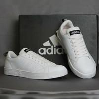 Adidas Neo Advantage All White / Putih Sepatu Cewek Wanita Casual Kets