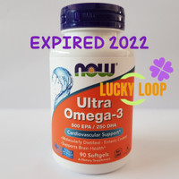 Now Foods Ultra Omega 3 500 EPA / 250 DHA isi 90 Softgels Now Omega 3