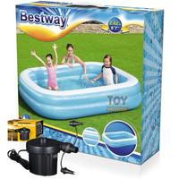 Bestway 54006 Kolam Renang Anak [262 x175 x51cm] + Pompa listrik 62056