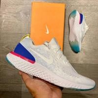 Sepatu Pria Running Nike Epic React 1 White Blue Pink