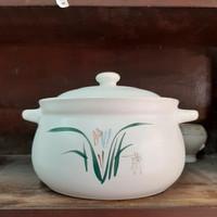 Panci keramik dari tanah liat buat masak obat herbal UK 3L