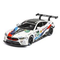 miniatur Diecast 1 32 mobil balap BMW M8 GTE DTM metal mainan anak