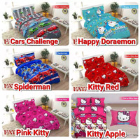 Bedcover Fata Tanpa Sprei Ukuran 120x200 Motif Pink Kitty Doraemon