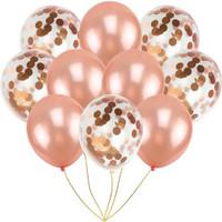 Dekorasi Balon Rose Gold Confetti Ulang Tahun Bridal Shower