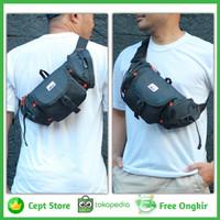 tas slempang pria kanvas sling bag outvin waterproof waist bag sepeda