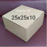 kardus packing box pizza / die cut uk 25x25x10