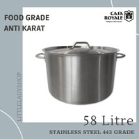 Panci Besar High Casserole Stainless Steel (58L) - Casa Royale
