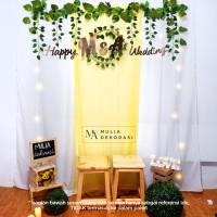 Paket Dekorasi Tunangan Backdrop Nikahan PhotoBooth DIY Aqiqah Mulia G - Kuning