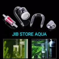 Aquaspace co2 Diffuser Glass set perawatan ikan aquarium