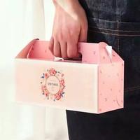 Kotak bolu gulung kotak donut cake box, kotak lapis legit