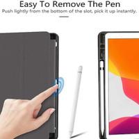 Smart Case sarung Cover IPad 8 10.2 2020 silikon + slot holder Pencil