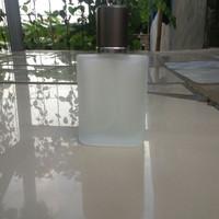 Botol parfum semprot spray kaca 30ml doff tutup silver Aqua di gio 006