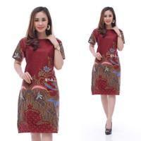 Baju Atasan Wanita-Dress Baju Batik Wanita Best Seller