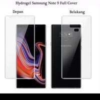 Anti Gores Hydrogel Set Depan Belakang Samsung Note 9
