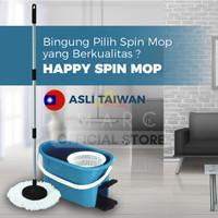 HAPPY SPIN MOP - Alat Pel Pembersih Lantai Ultra Super ember jumbo