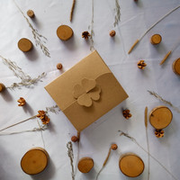 BOX PERSEGI,BOX SOUVENIR BAHAN BROWN KRAFT 280 gr UKURAN 14 X13 X 3 cm