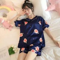 baju tidur wanita blue pig / piyama wanita