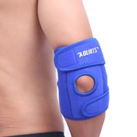 Aolikes Pelindung Lengan Siku Import adjustable spring support elbow - Biru