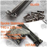 Ruji Jari Jari Spoke Stainless Steel Sepeda MTB 26. ARAYA BERKUALITAS