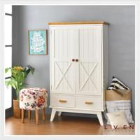 Lemari pakaian sleding 2 pintu Lemari kayu minimalis jati