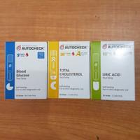 Paket strip Autocheck 3in1..gula asamurat dan kolestrol