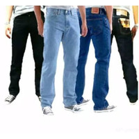 celana jeans denim garmen levis standar panjang pria model distro baru