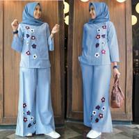 ah setelan baju stelan celana fashion wanita busana muslim