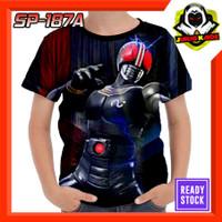 Kaos Kamen Rider Black Satria Baja Hitam Kotaro minami Baju Anak Murah