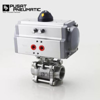 Ball Valve 3pc Body ss 1 + Actuator Pneumatic Double Acting
