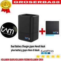 Dual battery charger+battery gopro hero 8 black / hero 7 6 5 ORIGINAL