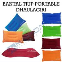 bantal tiup portable lipat camping hiking travel outdoor dhaulagiri