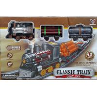 Mainan Classic Train Klasik Set Kereta Api Cepat Baterai