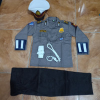BAJU SERAGAM POLISI ANAK- BAJU PROFESI POLISI ANAK CILIK