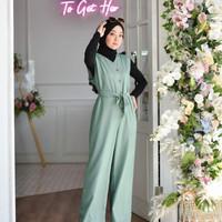Baju Gamis Wanita Terbaru Muslim Raquel Jp Jumpsuit