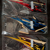 striping stiker tangki list body Honda Tiger Revo 2013