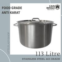 Panci Besar High Casserole Stainless Steel (113L) - Casa Royale