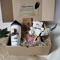 Kado hadiah paket ulang tahun wanita cewek Eldeweis Tumbler custom