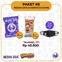 2pack Medan Jaya + 1pack Marocco Cumi (1 kotak isi 3pack/60bks)