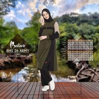 Baju Olahraga Muslimah + Beleive BMS 26 + Setelan Olahraga Terbaru