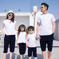 Couple family harry potter putih setelan baju keluarga murah hara at