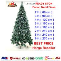 Ready Pohon Natal Jarum Pinus Murah Pohon Natal Putih Bintik Salju
