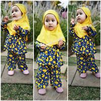 fashion baju muslim gamis anak perempuan katun kulot ST16 - ST20 - st19, XS