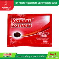Konidin Lozenges Strong Mint 1+1 Melegakan Tenggorokan & Menyegarkan