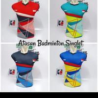 Baju olahraga singlet batminton kaos