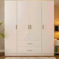 Lemari Pakaian 4 Pintu Minimalis Putih