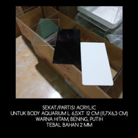 SEKAT/PARTISI ACRYLIC UNTUK BODY AQUARIUM L6,5XT12 CM (11,7X6,3 CM)