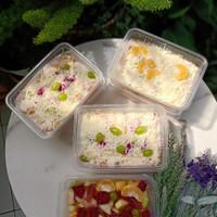 Salad Buah Box 650ml Cup Fresh Fruit Salat Yogurt Keju Enak Segar
