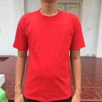 Kaos Polos Cotton Carded Merah